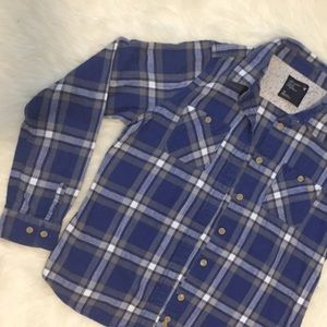 Blue and Grey flannel